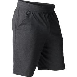 Short 520 slim largo sobre las rodillas gimnasia Stretching hombre gris oscuro
