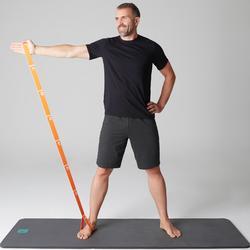 Herenshort 520 gym en stretching, slim fit, tot net boven de knie, donkergrijs