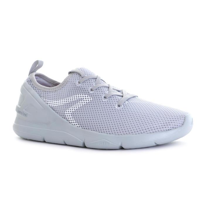 PW 100 women's fitness walking shoes light grey - 1511536