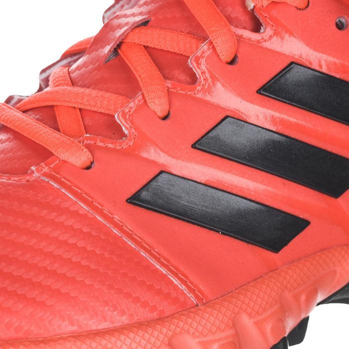 Chaussures de hockey sur gazon enfant intensité moyenne à forte Lux rouge
