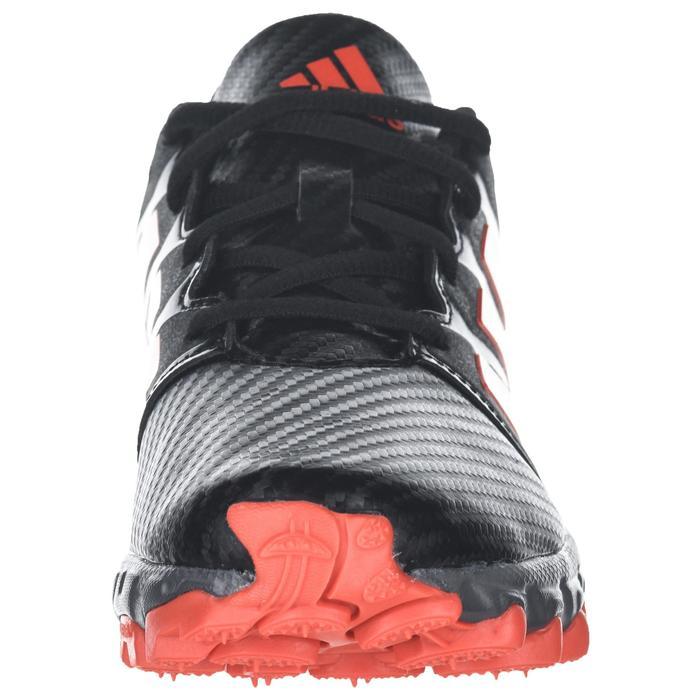 Chaussures de hockey sur gazon enfant intensité moyenne à forte Lux noir