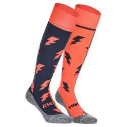 Veldhockey sokken kinderen en volwassenen Hingly Bliksem oranje