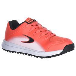 Chaussures de hockey sur gazon enfant intensité faible/moyenne Light 100 orange