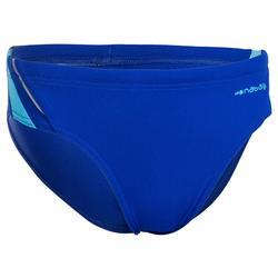 Zwemslip voor jongens 900 Yoke B blauw/blauw