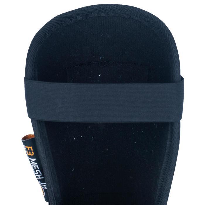 Protège-tibias de hockey sur gazon intensité moyenne à forte enfant F3 mesh noir