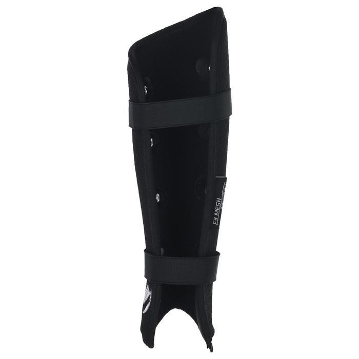 Protège-tibias de hockey sur gazon intensité forte adulte F3 mesh noir