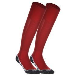 Chaussettes de hockey sur gazon enfant et adulte Hingly rouge