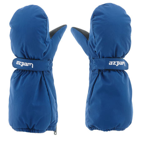 CHILDREN'S SKIING MITTENS 500 - BLUE