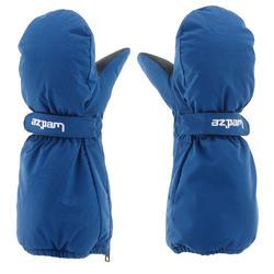 兒童滑雪連指手套SKI-P MI 500藍色