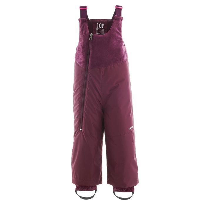 嬰幼兒滑雪/雪橇吊帶褲Warm - 紫色