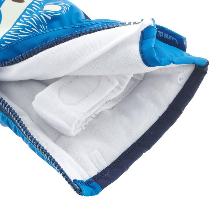 Warme babywanten voor sleeën blauw