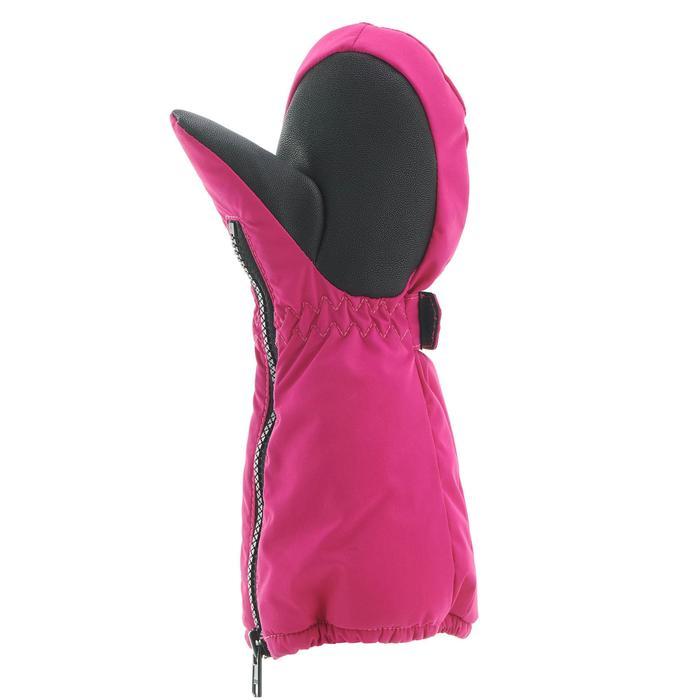 兒童滑雪連指手套500 - 粉色