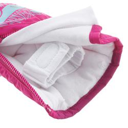 Warme babywanten voor sleeën roze