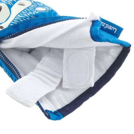 Babies' Ski/Sledge Mittens Warm - Blue