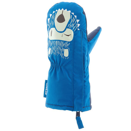 Babies' Skiing/Sledging Mittens Warm - Blue