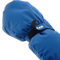 兒童滑雪連指手套500 - 藍色