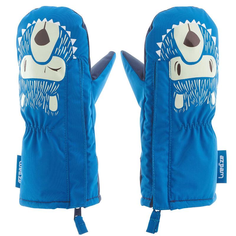 Mănuși cu 1 deget săniuș/schi WARM Albastru Copii