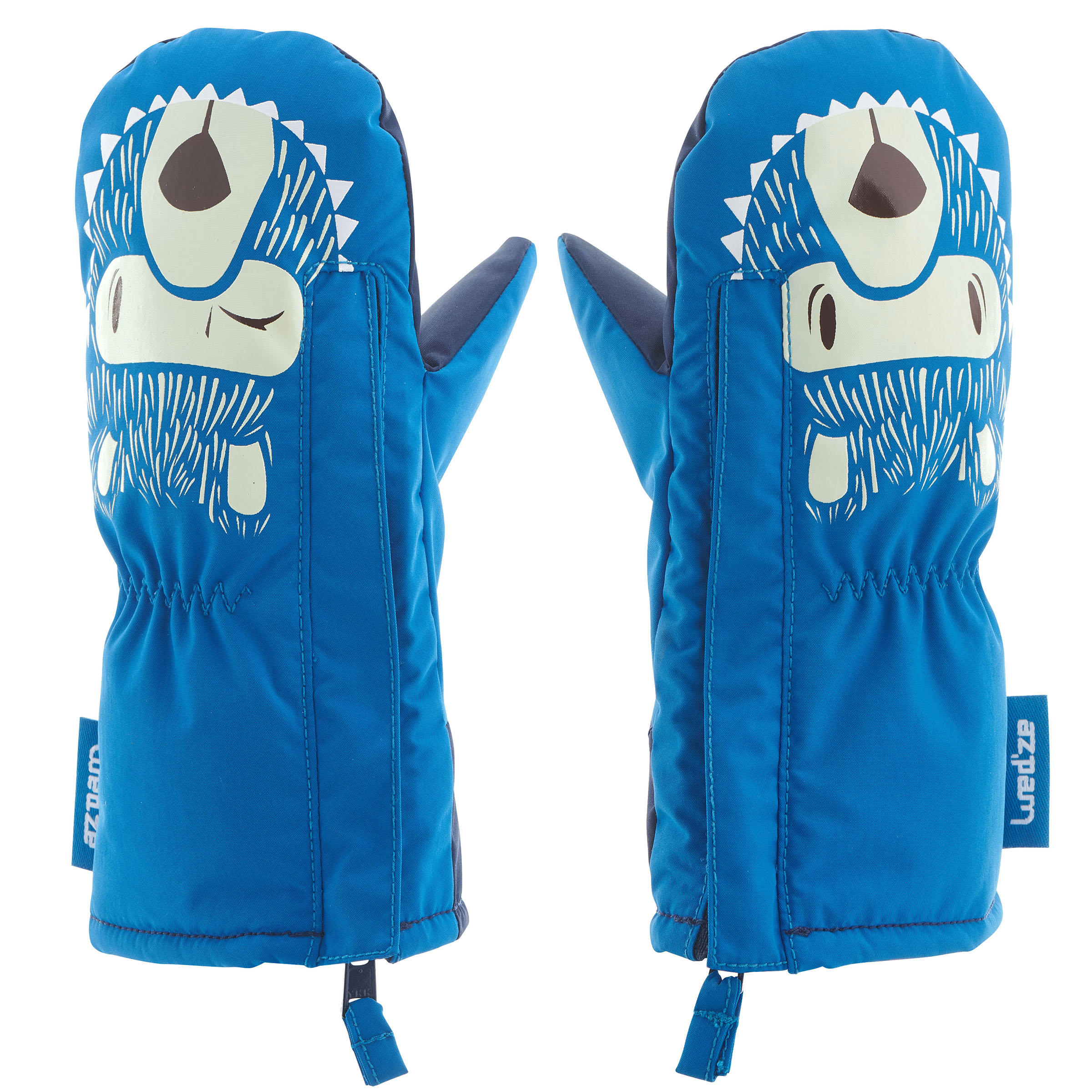 Warm Baby Sledding Mittens - Blue
