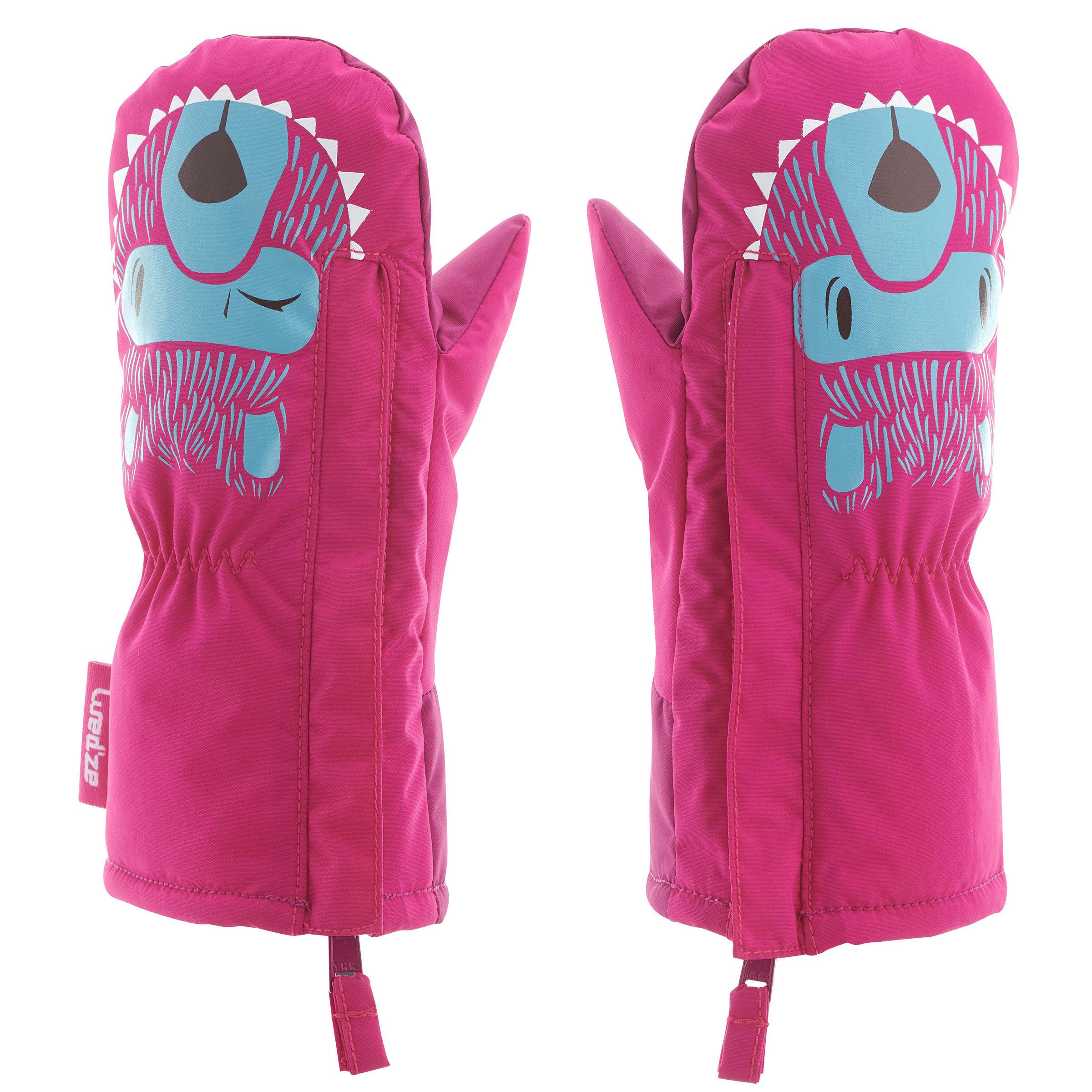 100% de qualité supérieure énorme inventaire haute couture Moufles de ski / luge bébé WARM bleues