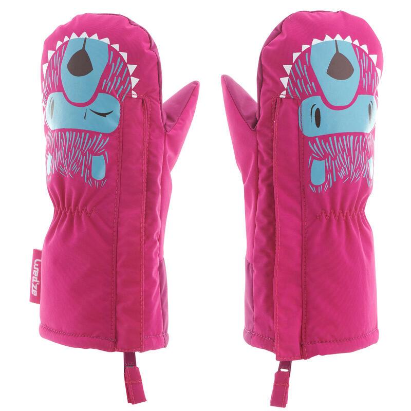Mănuși cu 1 deget săniuș/schi warm Roz Copii