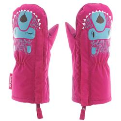 BABY 100 嬰幼兒雪橇滑雪運動露指手套 粉紅