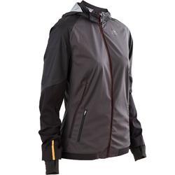 女款跑步外套KIPRUN EVOLUTIV - 黑金色