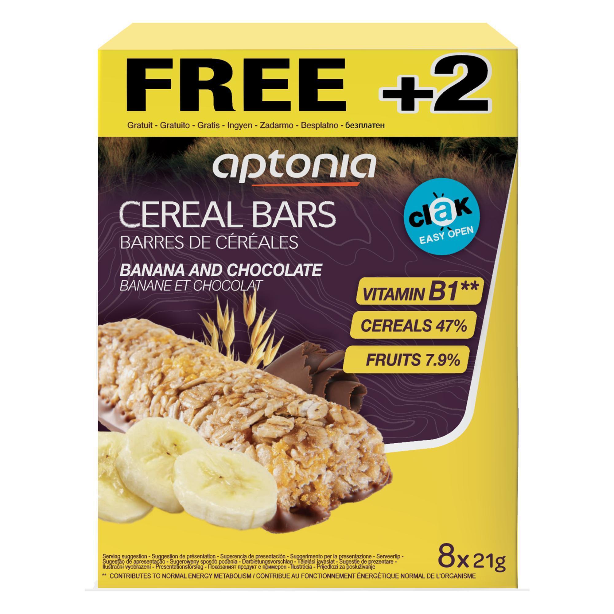 Aptonia Graanreep Clak chocolade banaan 6x 21 g + 2 GRATIS