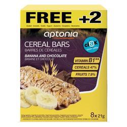 Graanreep Clak chocolade banaan 6x 21 g + 2 GRATIS