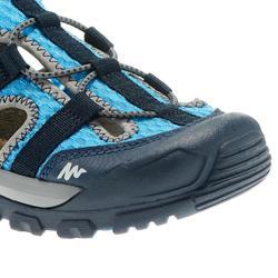 兒童款健行運動涼鞋MH150-藍色