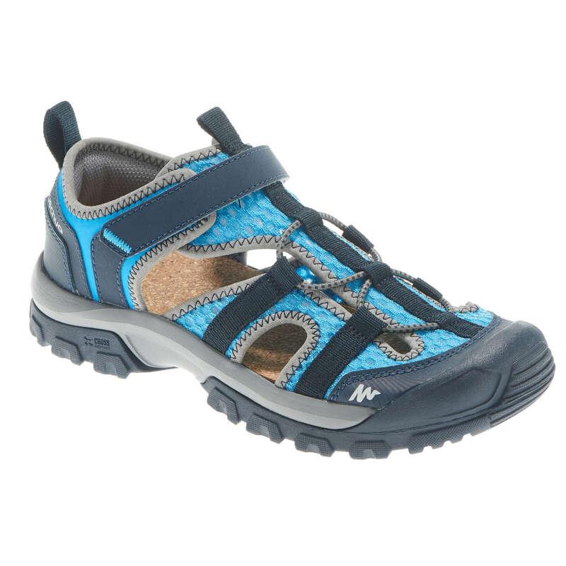 CHILDREN HIKING SANDALS Hiking - MH150 Kids Walking Sandals - Blue  QUECHUA - Outdoor Shoes