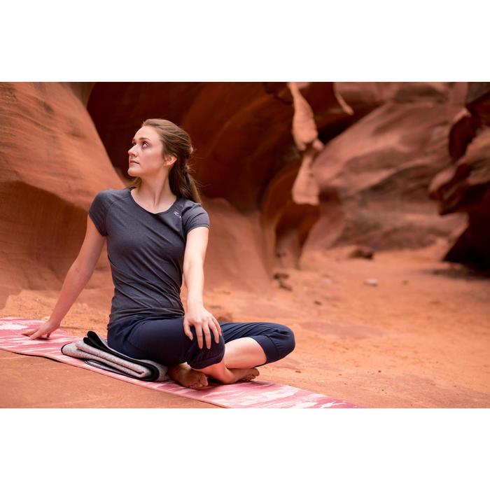 T shirt yoga doux femme en coton issu de l'agriculture biologique - 1512456