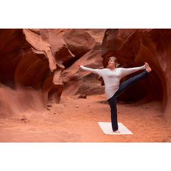 Langarmshirt für sanftes Yoga Biobaumwolle Damen grau