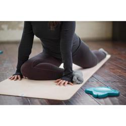 Antislip teensokken voor zachte yoga gemêleerd grijs