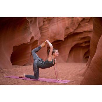 Naadloze 7/8-yogalegging voor dames gemêleerd grijs