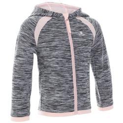 嬰幼兒健身連帽外套S500 - 灰色/粉紅色
