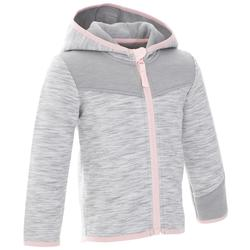 500 Baby Gym Hooded Jacket - Grey/Pink
