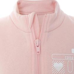 100 Warm'y Zip Baby Gym Tracksuit - Pink