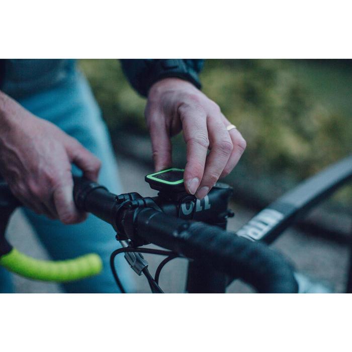 Fahrradcomputer B'TWIN 500 kabellos gelb