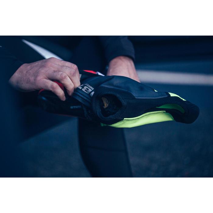 Overschoenen Roadr 500 voor wielrenners fluogeel 3 mm