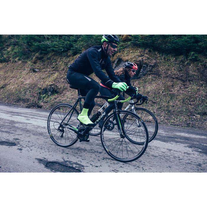 Overschoenen voor wielertoerisme Roadr 500 fluogeel 3 mm