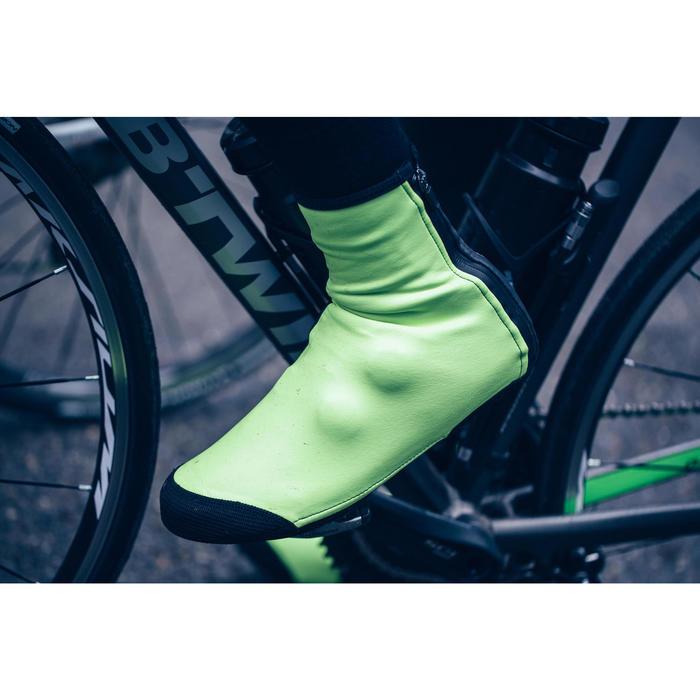 Sur-chaussures vélo cyclo-tourisme et VTT ROADR 500 JAUNE FLUO 3mm