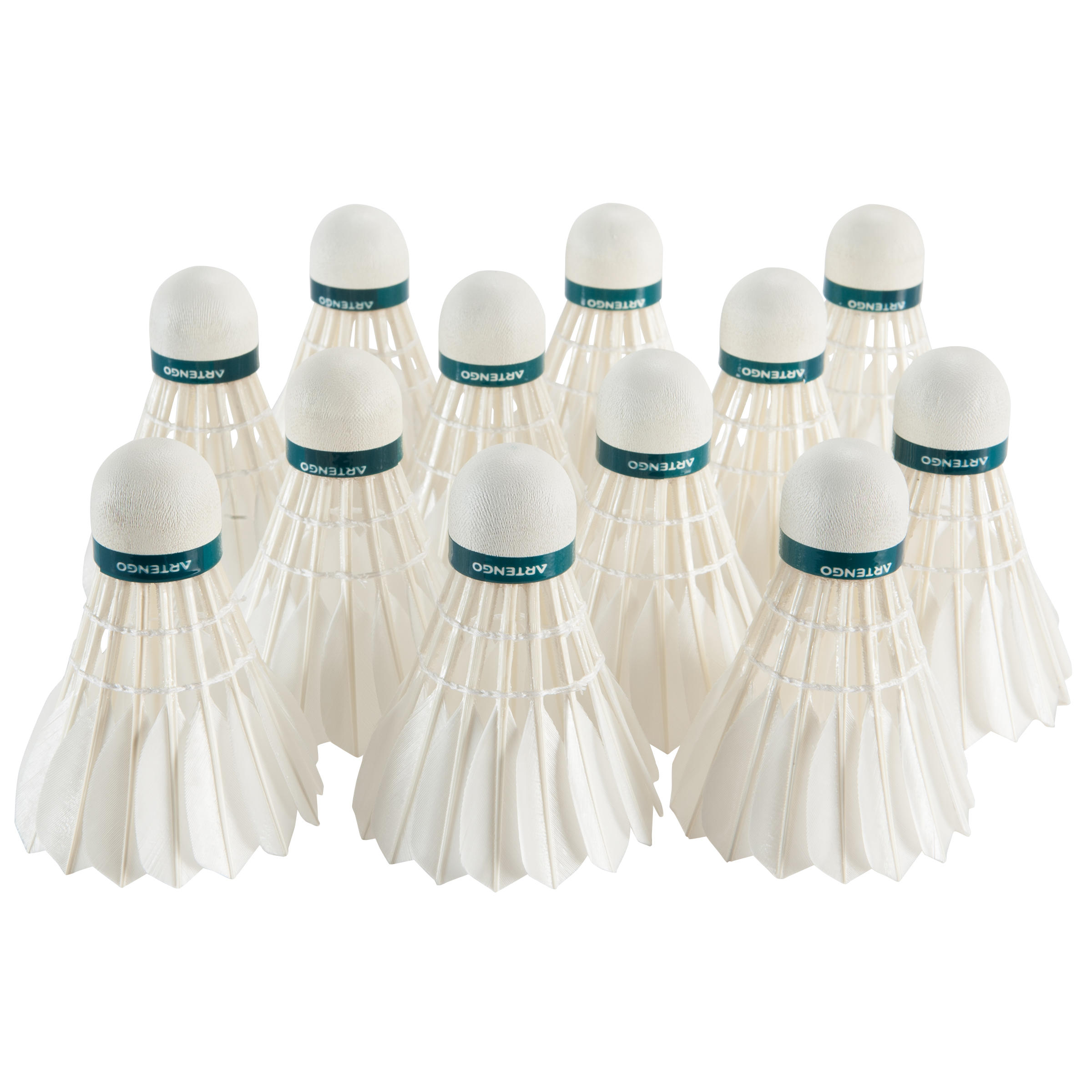 BADMINTON SHUTTLECOCK BSC950 12-PACK-GOOSE FEATHER - SPEED77