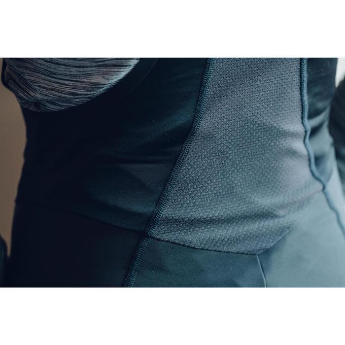 Wielrenbroek lang 900 met bretels voor dames zwart