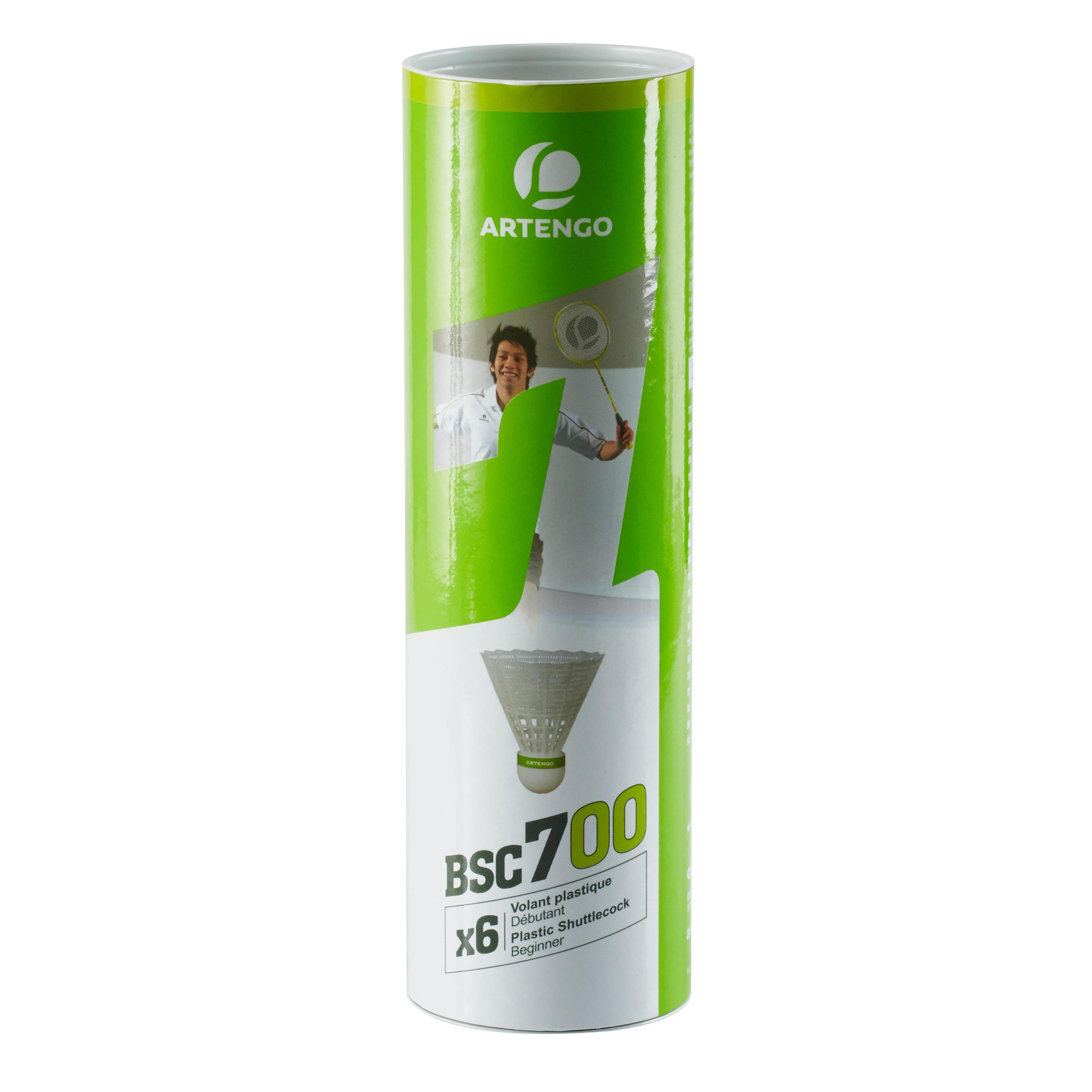 Artengo Badminton shuttle BSC700 wit 6 stuks