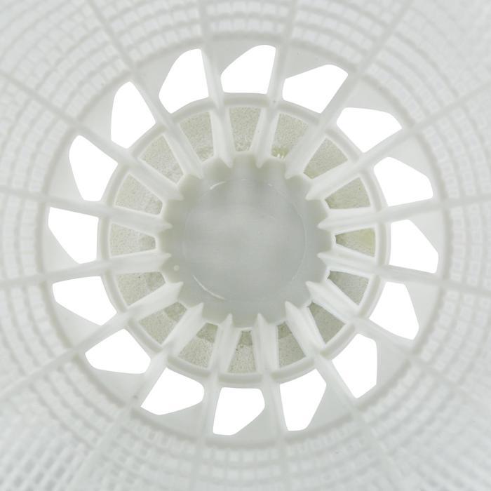 Badmintonbälle Federbälle BSC700 Kunststoff 6 Stk. weiß