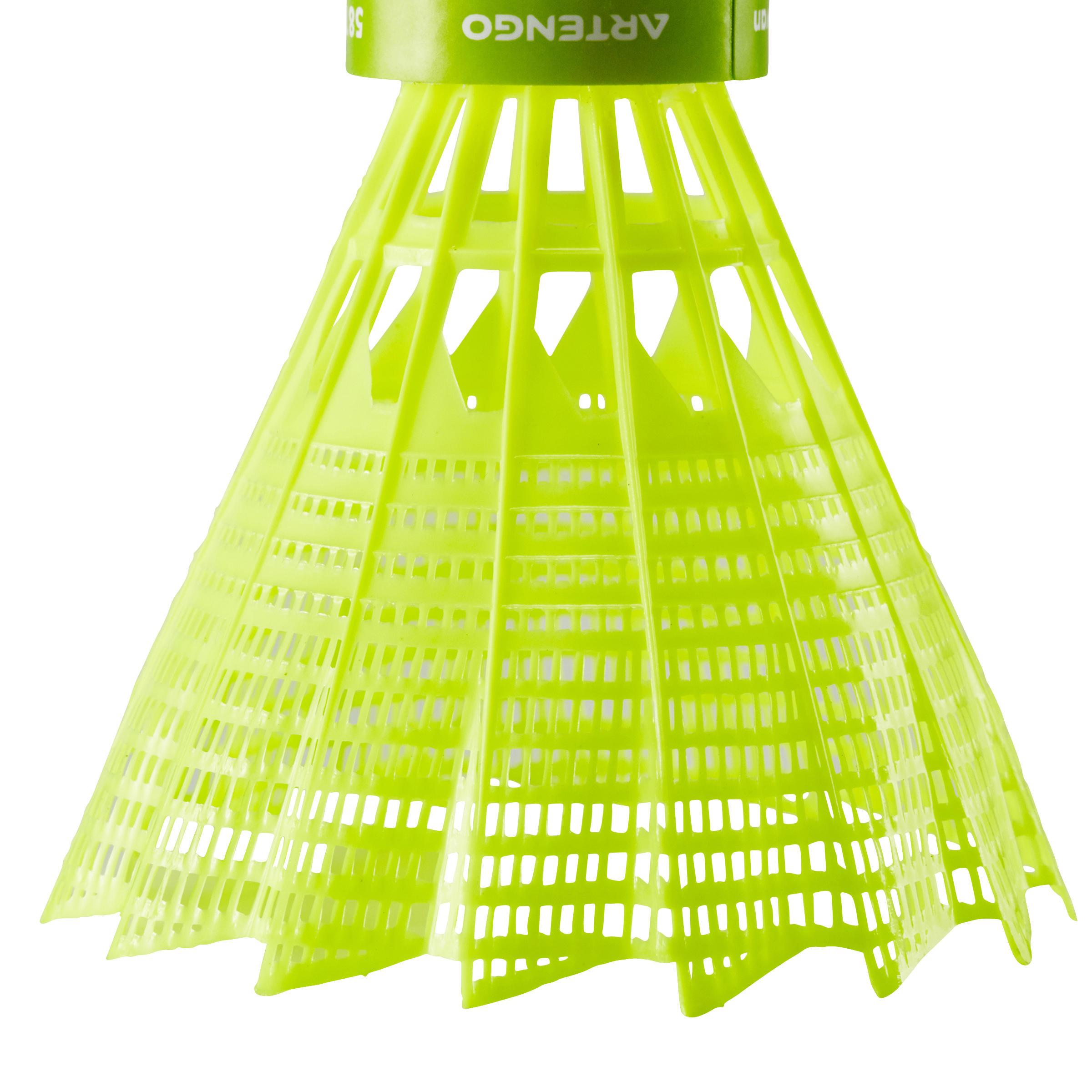 PLASTIC SHUTTLECOCK PSC 100 x 1 Single-Pack - Yellow