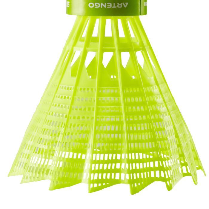 Badminton shuttle in plastic PSC 100 per stuk geel