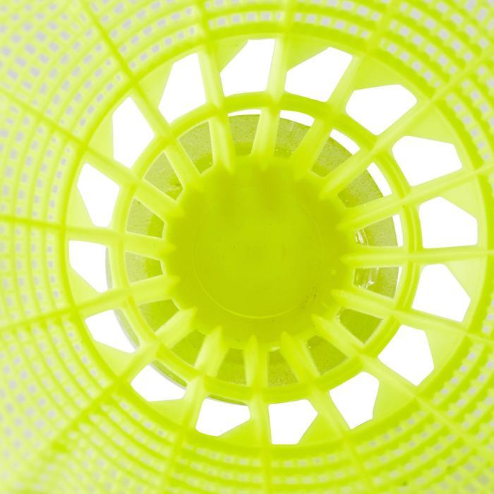 Badmintonbälle Federbälle BSC700 Kunststoff 6 Stk. gelb