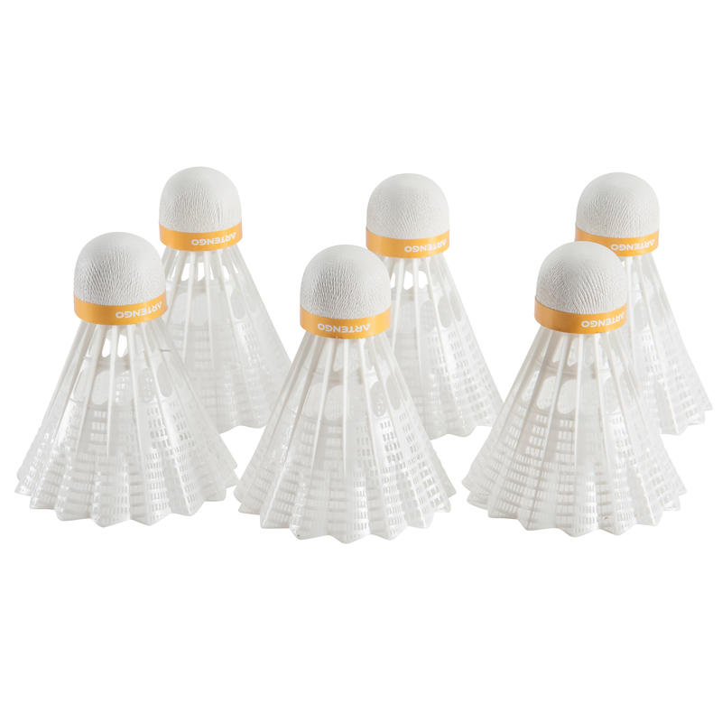 BSC800 Badminton Shuttle 6-Pack - White