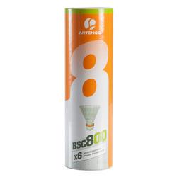 Badminton shuttle BSC800 6 stuks